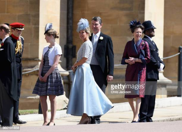 Lady Louise Windsor Timothy Laurence Sophie Countess of Wessex and Princess Anne Princess Royal attend the wedding of Prince Harry to Ms Meghan...