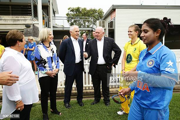 Lady Lynne Cosgrove Lucy Turnbull Prime Minister of Australia Malcolm Turnbull GovernorGeneral of Australia Peter Cosgrove GovernorGeneral's XI...