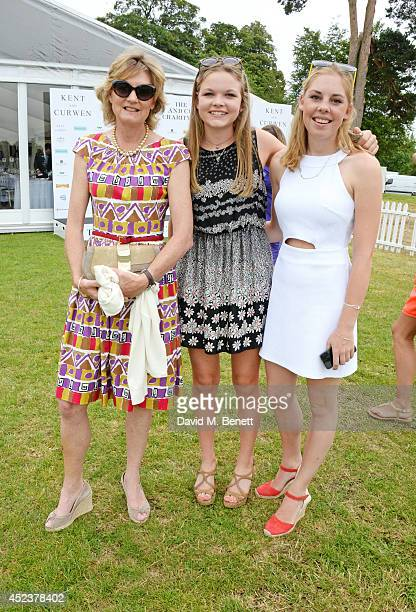 Lady Madeleine Lloyd Webber and daughter Isabella Lloyd Webber attend the Kent and Curwen Royal Charity Polo Cup at Watership Down Sydmonton Court...