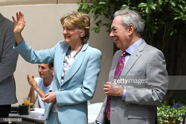 Lady Madeleine Lloyd Webber and Lord Andrew Lloyd Webber attend Theatre Royal on June 23, 2021 in London, England. Theatre Royal Drury is the oldest...