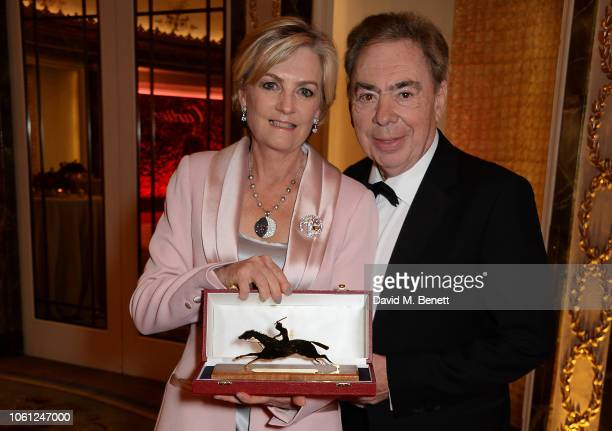Lady Madeleine Lloyd Webber and Lord Andrew Lloyd Webber attend the 2018 Cartier Racing Awards at The Dorchester on November 13 2018 in London England