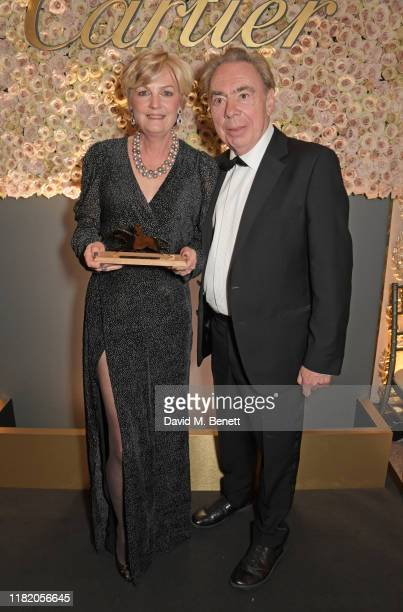 Lady Madeleine Lloyd Webber and Lord Andrew Lloyd Webber attend The 29th Cartier Racing Awards at The Dorchester on November 12 2019 in London England
