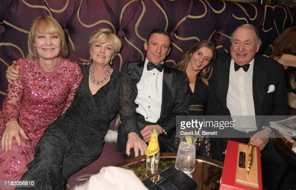 Lady Madeleine Lloyd Webber Frankie Dettori guest and Anthony Oppenheimer attend The 29th Cartier Racing Awards at The Dorchester on November 12 2019...