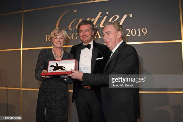 Lady Madeleine Lloyd Webber Laurent Feniou and Lord Andrew Lloyd Webber attend The 29th Cartier Racing Awards at The Dorchester on November 12 2019...