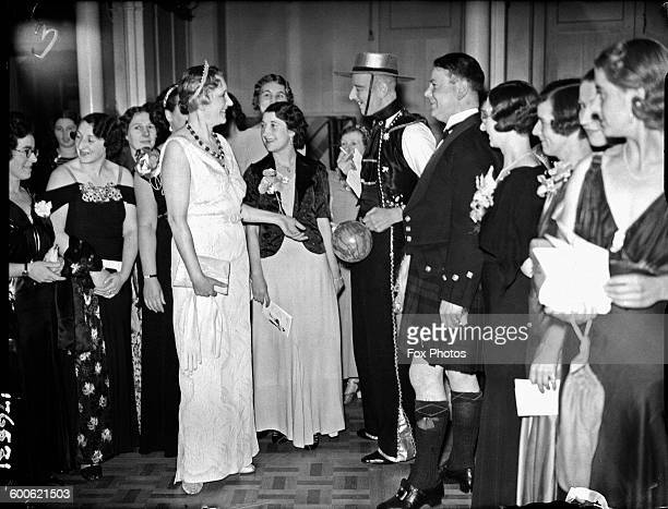Lady Malcolm with some of her guests at the Servant's Ball held at the Royal Albert Hall London 24th November 1937 Lady Malcolm daughter of actress...