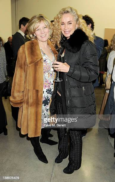 Lady March and Angie Rutherford attend the launch of Louise Fennell's debut novel 'Dead Rich' at White Cube on February 8 2012 in London England