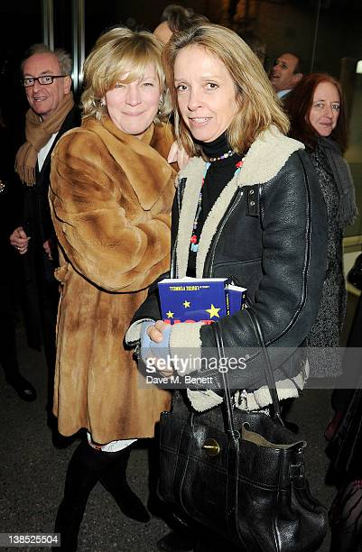 Lady March and Sabrina Guinness attend the launch of Louise Fennell's debut novel Dead Rich at White Cube on February 8 2012 in London England