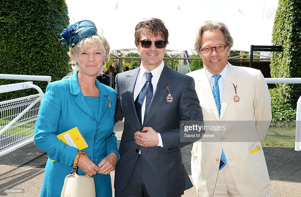 Lady March, Tom Cruise and Lord March attend Glorious Goodwood Ladies Day at Goodwood on July 31, 2014 in Chichester, England.