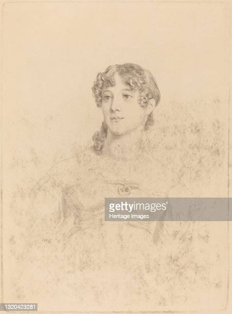 Lady Maria Hooker When Miss Turner at Age Seventeen, 1814. Artist Mary Dawson Turner.