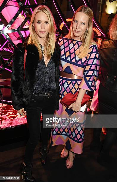 Lady Mary Charteris and Alice NaylorLeyland attend an intimate cocktail event hosted at Agent Provocateur Grosvenor Street boutique to celebrate the...