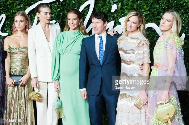 Lady Mary Charteris Arizona Muse Millie Mackintosh James Blunt Lady Sofia Wellesley and Alice NaylorLeyland arrive at The Fashion Awards 2019 held at...