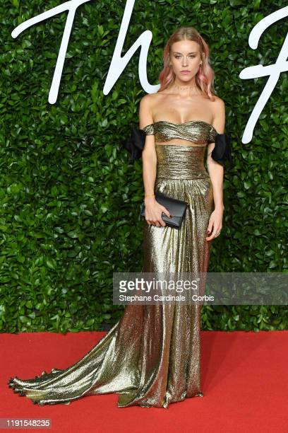 Lady Mary Charteris arrives at The Fashion Awards 2019 held at Royal Albert Hall on December 02 2019 in London England