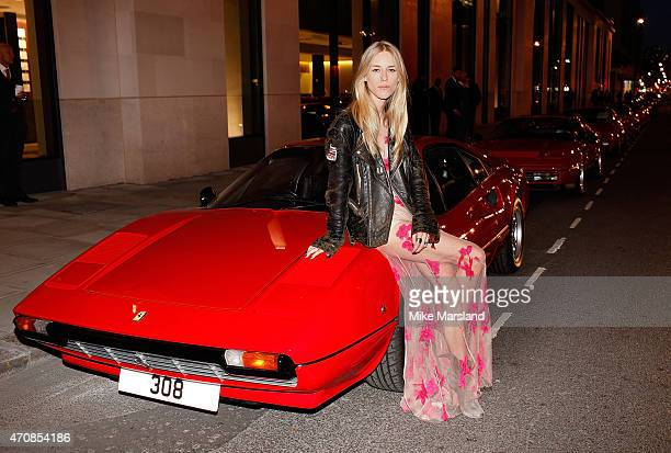 Lady Mary Charteris attends the UK launch event for the newest addition to Ferrari the 488 GTB at The Old Sorting Office on April 23 2015 in London...