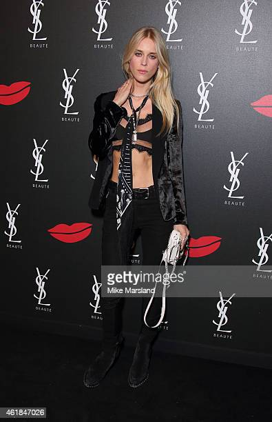 Lady Mary Charteris attends the YSL Beaute: YSL Loves Your Lips party at The Boiler House,The Old Truman Brewery, on January 20, 2015 in London,...