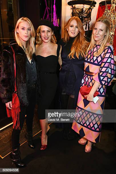 Lady Mary Charteris Charlotte Dellal Agent Provocateur Creative Director Sarah Shotton and Alice NaylorLeyland attend an intimate cocktail event...