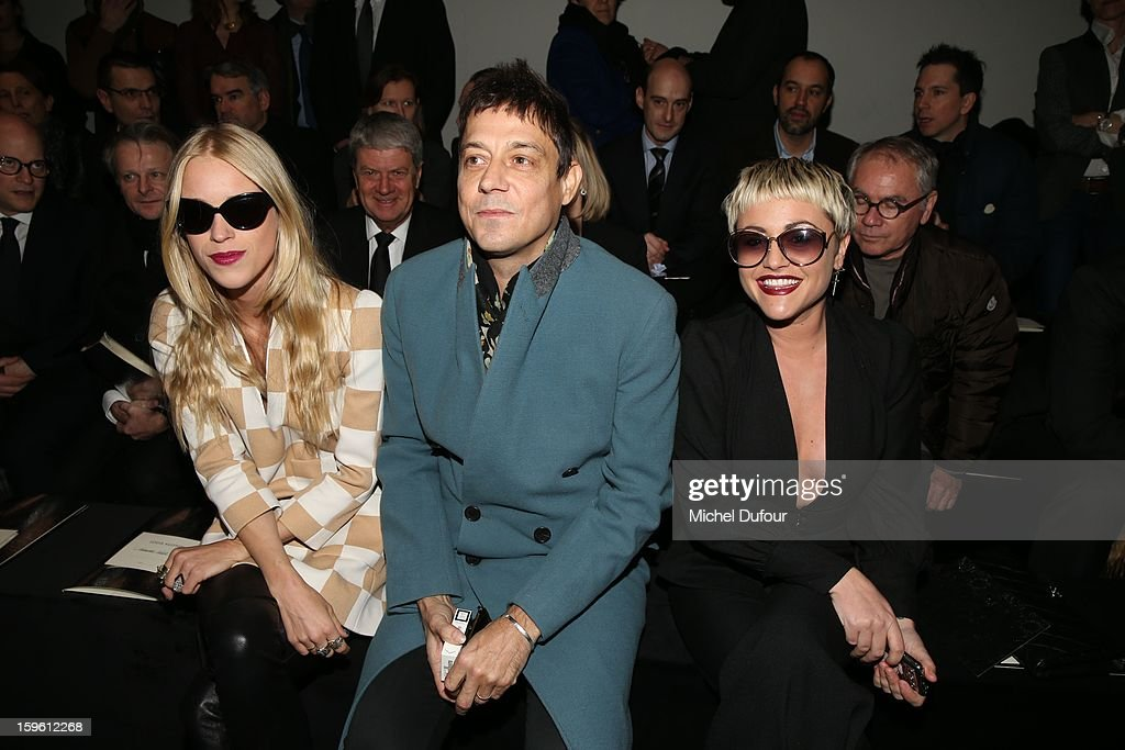 Lady Mary Charteris, Jamie Hince and Jaime Winstone attend the Louis Vuitton Men Autumn / Winter 2013 show as part of Paris Fashion Week on January 17, 2013 in Paris, France.