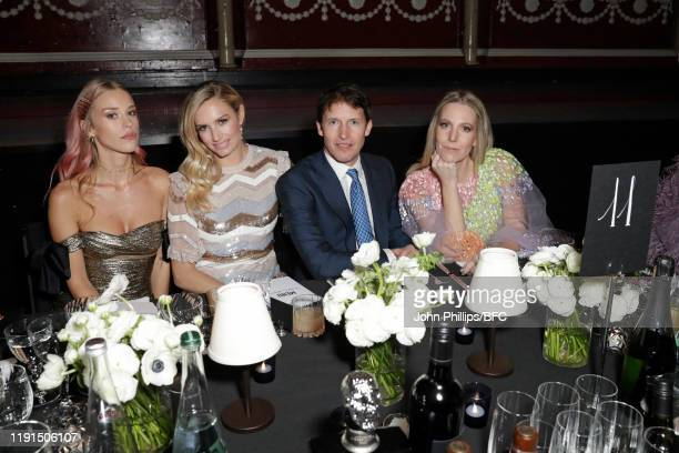 Lady Mary Charteris Lady Sofia Wellesley James Blunt and Alice NaylorLeyland attend the VIP dinner at The Fashion Awards 2019 held at Royal Albert...
