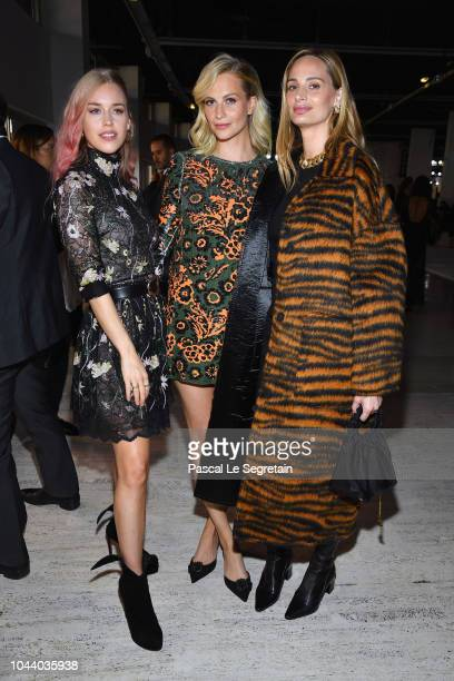 Lady Mary Charteris Poppy Delevingne and Lauren Santo Domingo attend the Giambattista Valli show as part of the Paris Fashion Week Womenswear...