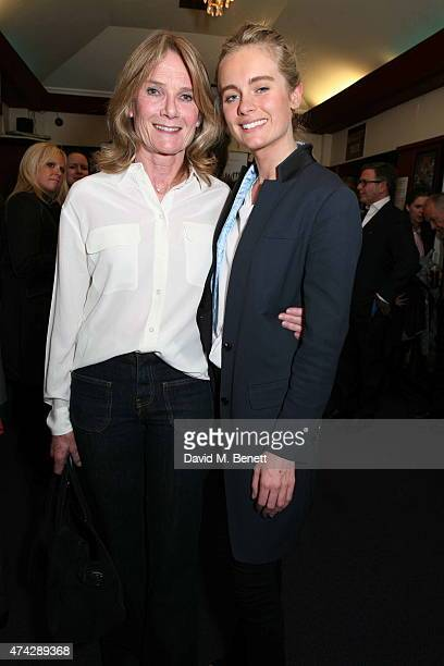 Lady MaryGaye Curzon and Cressida Bonas attend the press night performance of 'An Evening With Lucian Freud' at the Leicester Square Theatre on May...