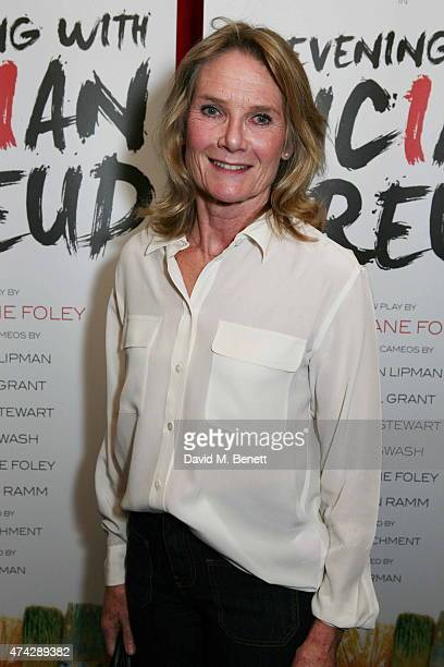 Lady MaryGaye Curzon attends the press night performance of 'An Evening With Lucian Freud' at the Leicester Square Theatre on May 21 2015 in London...