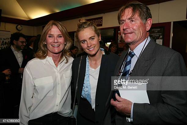 Lady MaryGaye Curzon Cressida Bonas and Jeffrey Bonas attend the press night performance of 'An Evening With Lucian Freud' at the Leicester Square...