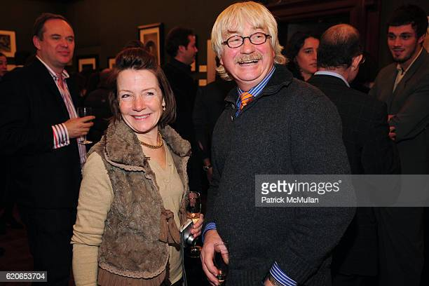 Lady McCrady and Martin Axon attend MIGUEL FORBES Hosts HORST PLATINUM Curated by JUAN CARLOS ARCILA DUQUE at The Forbes Galleries on January 30 2008...