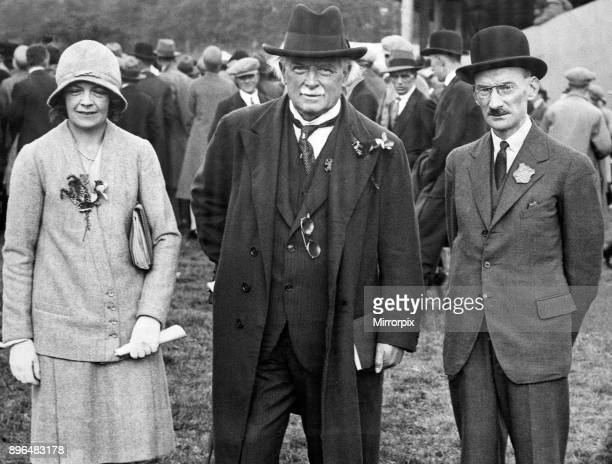 Lady Megan Lloyd George David Lloyd George and Captain T A Howson at the Royal Welsh show at Caernarvon 1930