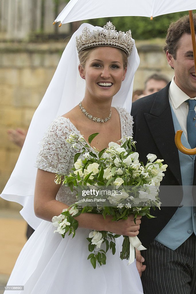 Lady Melissa Percy And Thomas Van Straubenzee After Their Wedding At St Michael S Church On June