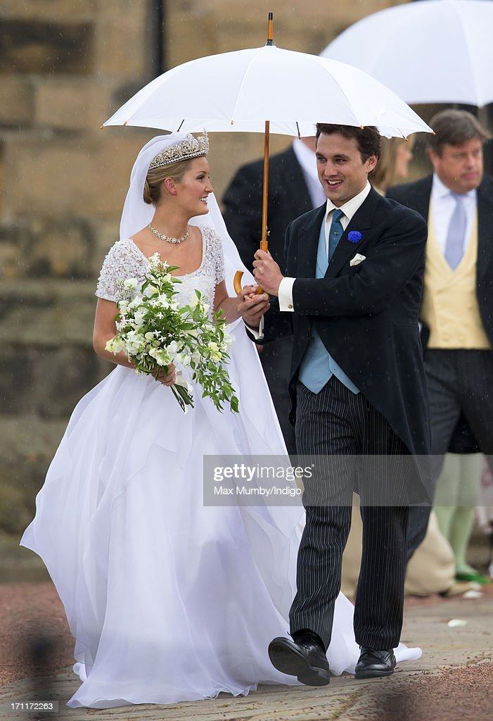 Lady Melissa Percy And Thomas Van Straubenzee Leave St Michael S Church After Their Wedding On June