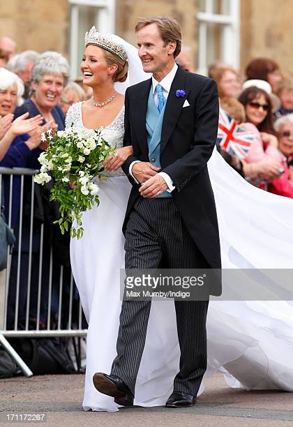 Lady Melissa Percy Ed By Her Father Ralph Duke Of Northumberland Arrive At St Michael S