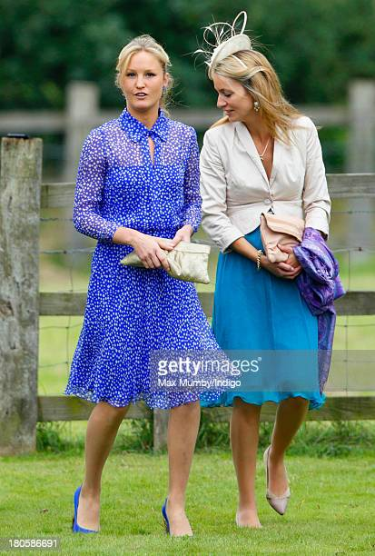 Lady Melissa van Straubenzee attends the wedding of James Meade and Lady Laura Marsham at the Parish Church of St Nicholas in Gayton on September 14...