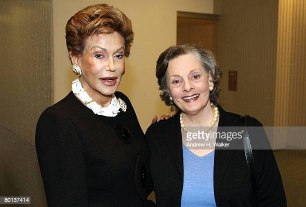 Lady Mercia Harrison and actress Dana Ivy attend MoMA's Rex Harrison A Centenary Tribute on March 5 2008 in New York City