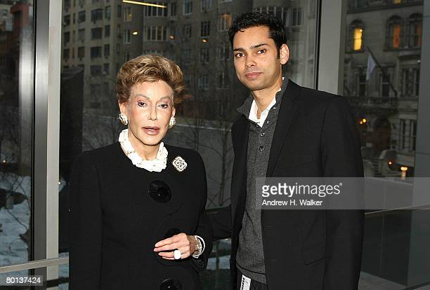 Lady Mercia Harrison and Chief Curator of Film Department Raj Roy attend MoMA's Rex Harrison A Centenary Tribute on March 5 2008 in New York City