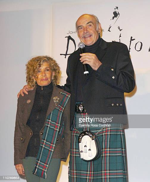 Lady Micheline Connery and Sir Sean Connery during Johnnie Walker Presents Dressed to Kilt Arrivals and Backstage at Synod House at St John the...