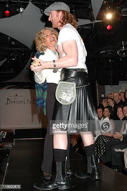 Lady Micheline Connery and Tony Curran during Johnnie Walker Presents Dressed to Kilt Arrivals and Runway at Copacabana in New York City New York...