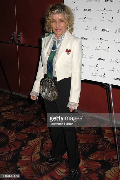 Lady Micheline Connery during Johnnie Walker Presents Dressed to Kilt Arrivals and Runway at Copacabana in New York City New York United States