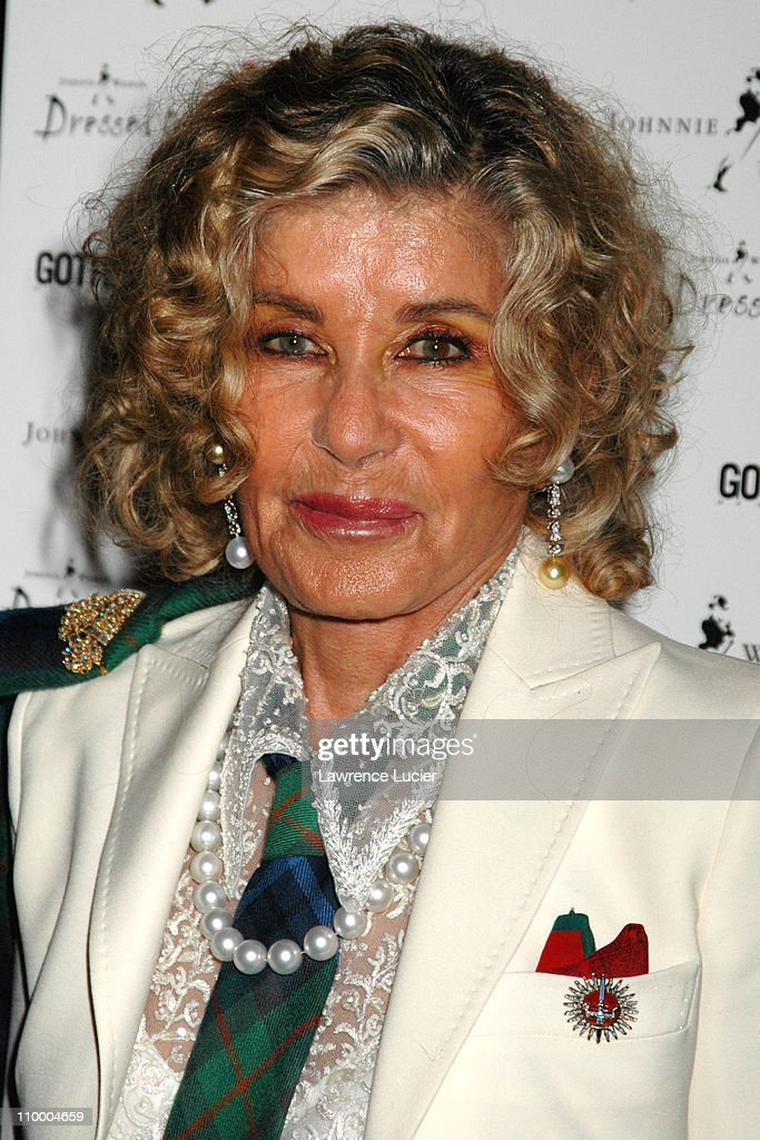 Lady Micheline Connery during Johnnie Walker Presents Dressed to Kilt - Arrivals and Runway at Copacabana in New York City, New York, United States.