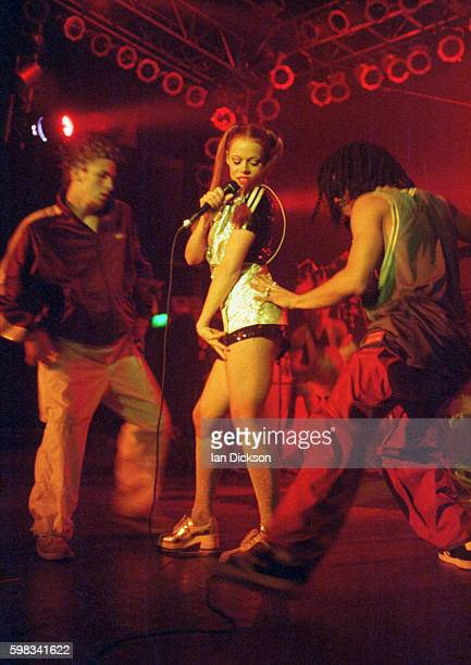 Lady Miss Kier of Deee-Lite performing on stage at The Forum, Kentish Town, London 16 December 1994.