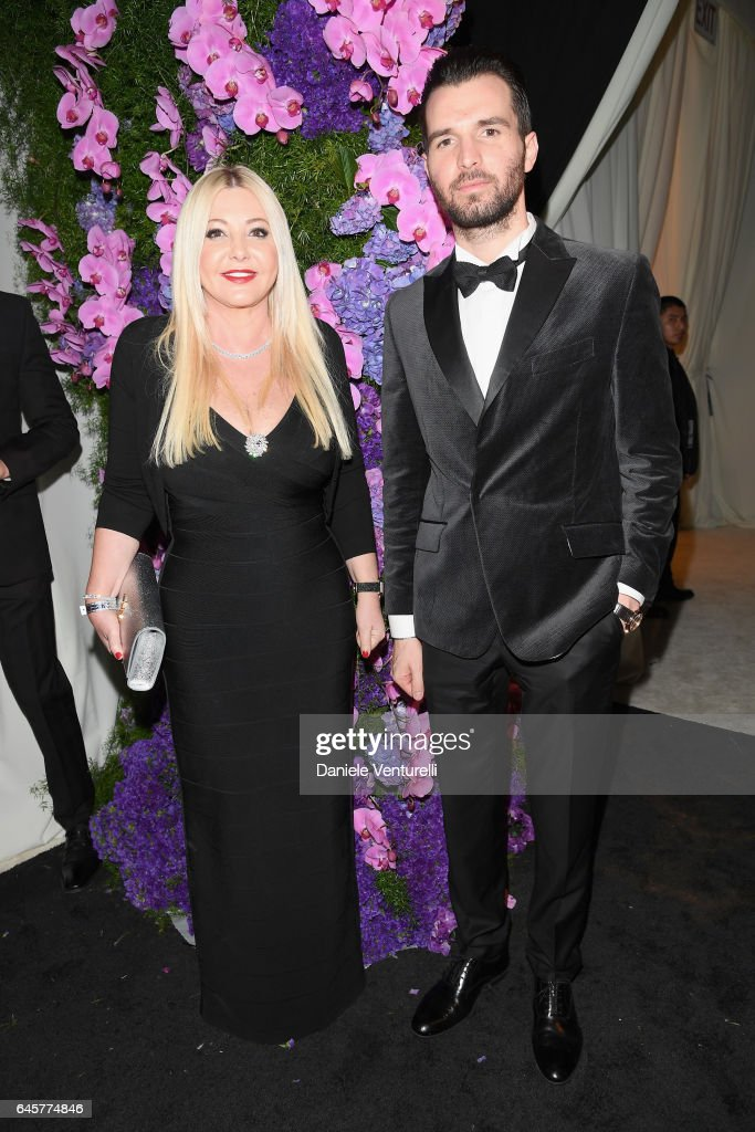 Lady Monika Bacardi and Andrea Iervolino attend Bulgari at the 25th Annual Elton John AIDS Foundation's Academy Awards Viewing Party at on February 26, 2017 in Los Angeles, California.