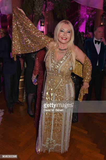 Lady Monika Bacardi attends Lisa Tchenguiz's birthday party on January 20 2018 in London England