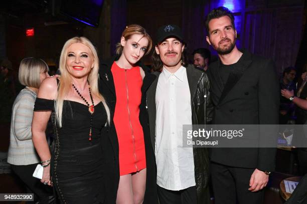 Lady Monika Bacardi Gus Birney director Fabien Constant and Andrea Iervolino attend the 2018 Tribeca Film Festival afterparty for 'Blue Night' hosted...