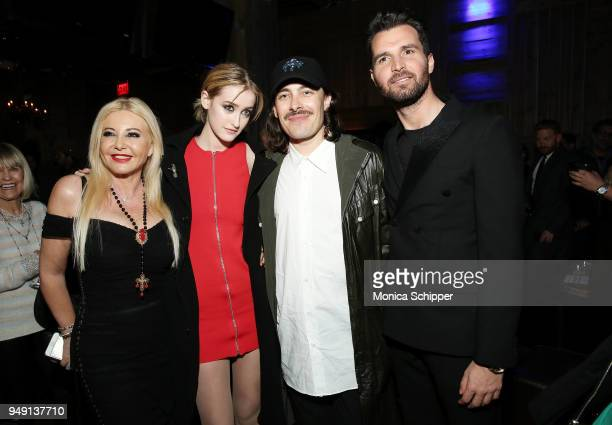 Lady Monika Bacardi Gus Birney Fabien Constant and Andrea Iervolino attend the Ambi Gala Tribeca party for Blue Night at The Ainsworth on April 19...