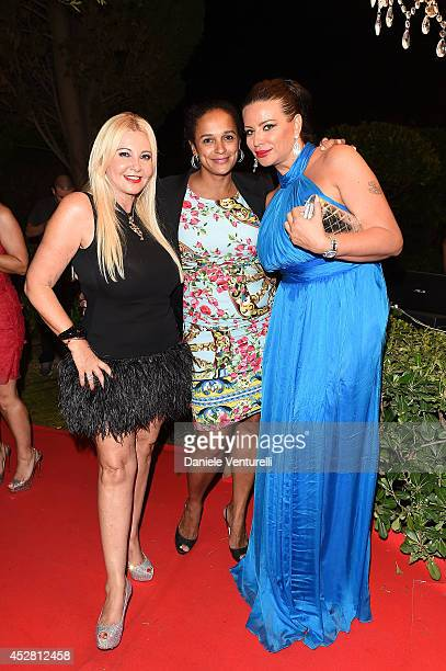 Lady Monika Bacardi Isabel Dos Santos and Kasia Al Thani attend Monika Bacardi Summer Party 2014 St Tropez at Les Moulins de Ramatuelle on July 27...