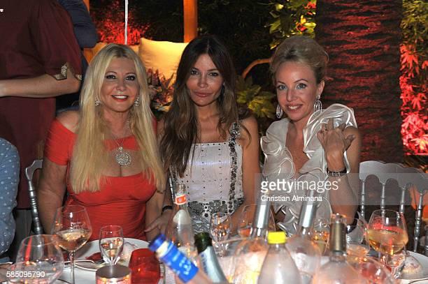 Lady Monika Bacardi Lola Tyliav Karimova and Camilla De Bourbon attend the Monika Bacardi Summer Dinner on July 27 2016 in SaintTropez France