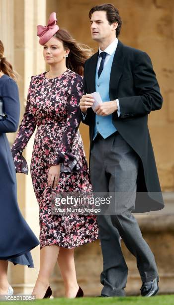 Lady Natasha Rufus Isaacs and Rupert Finch attend the wedding of Princess Eugenie of York and Jack Brooksbank at St George's Chapel on October 12...
