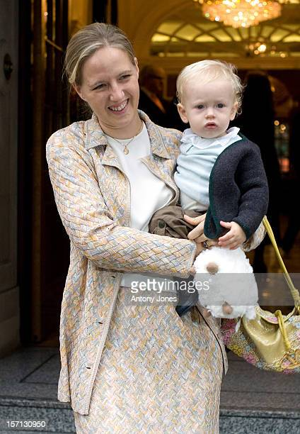 Lady Nicholas Windsor And Her Son AlbertAttend The Prince Of Wales' 60Th Birthday Brunch Reception At Goring Hotel In London Hosted By The Queen'S...