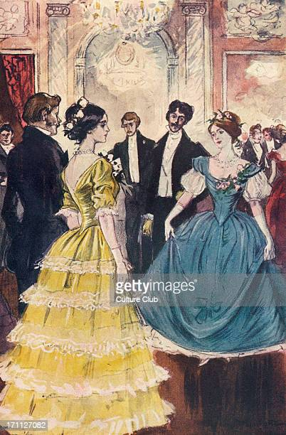 'Lady of the Camellias' by Alexandre Dumas fils Marguerite dancing with the Comte de N Chapter XXIII After a water colour drawing by Georges Jeanniot...