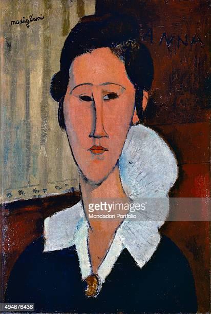 Lady of the Collarette Portrait of Hanka Zborowska by Amedeo Modigliani 20th Century oil on canvas 55 x 38 cm Italy Lazio Rome National Gallery of...