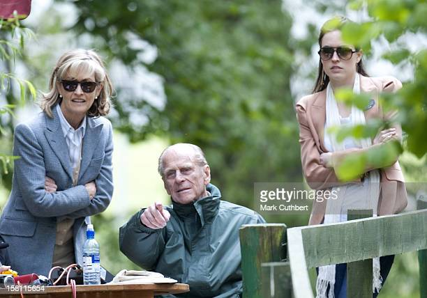 Lady Penny Brabourne And Alexandra Knatchbull With The Duke Of Edinburgh At The Royal Windsor Horse Show In Home Park Windsor
