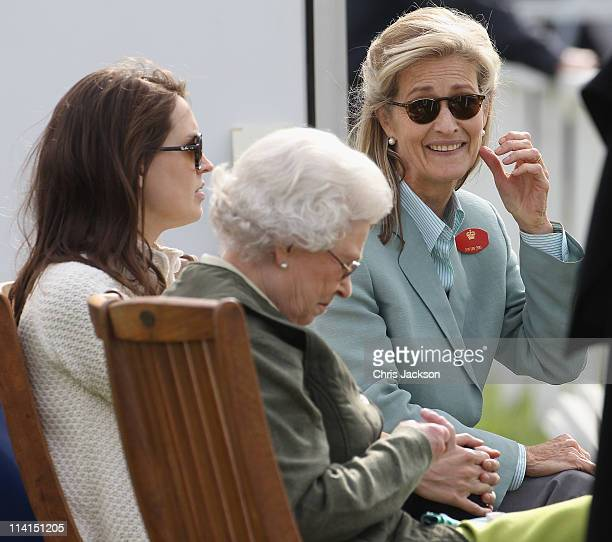 Lady Penny Brabourne and Queen Elizabeth II attend Windsor Horse Show on May 12 2011 in Windsor England
